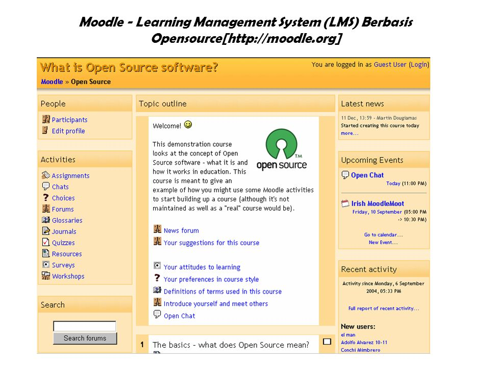 Moodle - Learning Management System (LMS) Berbasis Opensource[http://moodle.org]